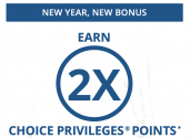 CHOICE PRIVILEGES® 2X Points Promotion